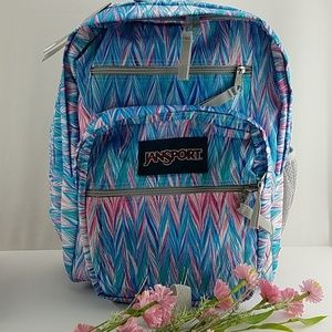 New Jansport Big Student Backpack Chevron